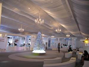 Wholesale light curtain: Party Tent with Inner Lining and Curtains and Lighting