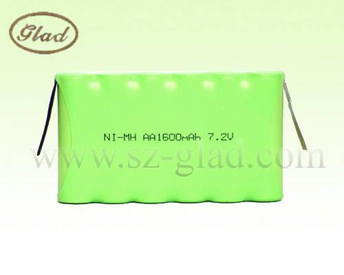 solar cells: Sell aa 7.2V nimh battery pack 1600mAh emergency light