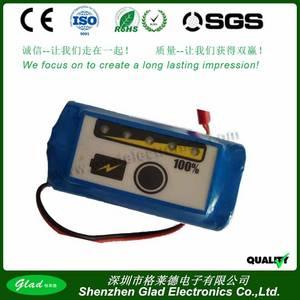 Wholesale solar light: 4s1p Samgsung 18650 14.8V 2600mAh Li-ion Battery Pack for Solar Light with LED Plate Display