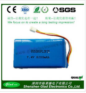Wholesale digital battery: High Energy 3.7v Li-ion Polymer Rechargeable Li Polymer Battery 7.4v 8200mah for Digital Device