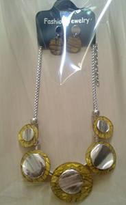 Wholesale gold set: Gold Necklace Earring Set,Acrylic Jewelry Set