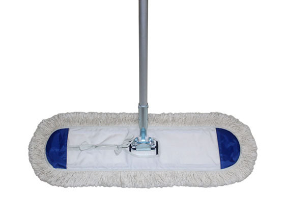 how to clean a commercial dust mop