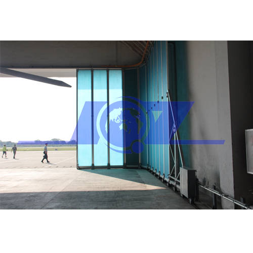 sliding window: Sell Germany technique fiberglass panel side sliding aircraft hangar door