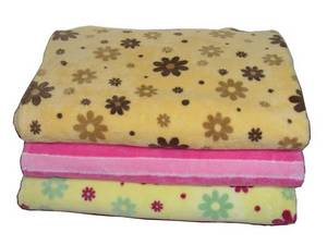 Wholesale down quilt: Microfiber Printed Blanket - Thick Single Fold