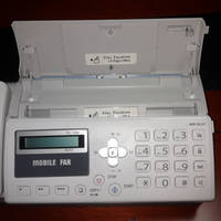 mobile fax machine for vehicle