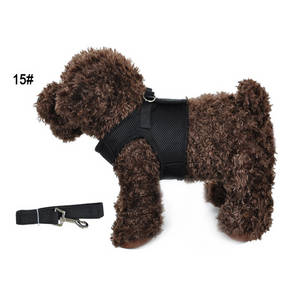Wholesale neck cushion: Nylon Mesh PET Dog Harness Vest Puppy Comfort Harness with Leads Rope Sets
