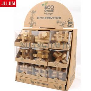 Wholesale 3d game: Kids Students Children Intelligent Educational Kits 3D Wooden Bamboo Puzzle Game Toy