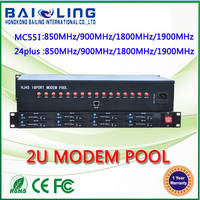Sell 16 port 3g gsm modem pool SIM5215 bulk sms 2u modem pool