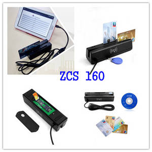 Wholesale rfid card reader: ZCS160 4-IN-1 Magnetic Card Reader/RFID/IC/PSAM Reader Writer