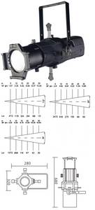 Wholesale led spotlight: Spotlight LED Lamp 350W LED 19/26/36 Profile Light