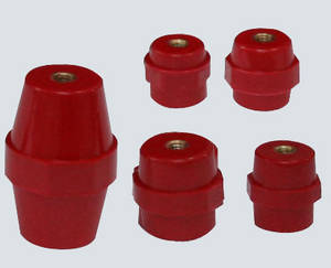 Wholesale smc/bmc mould: Hexagon Red Round Screw Busbar Insulators,Busbar Composite Insulator