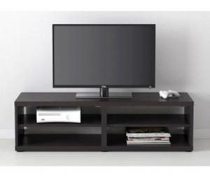 Wholesale TV Stands: Black Color Hotel Use Wooden TV Cabinet