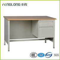 Top Quality Metal Office Furniture Wooden Desktop Office Desk Executive Talbe