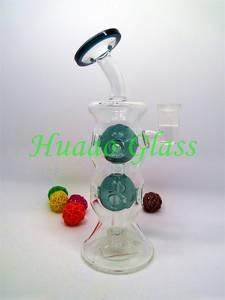 Wholesale Smoking Pipes: 2017 New 9 Inches Internal Circulation Return High Quality Borosilicate Glass Glass Bong