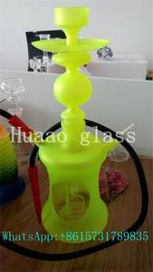 Wholesale Hookahs: Big Size Fluorescence Color Tobacco Pipes Glass Hookah Pipe