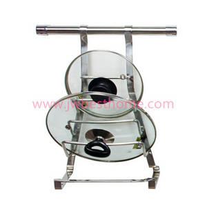 Wholesale pot holder: Stainless Steel Kitchen Utensil Holder Hanging Pot Lid Holder