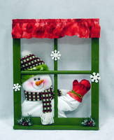 Sell swing hand singing snowman window frame christmas decorations