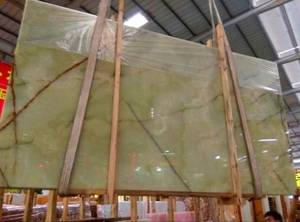 Wholesale green product: Green Onyx Slabs/Tile, Exterior-Interior Wall , Floor Covering, Wall Capping, New Product, Best Pric