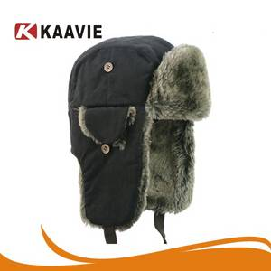 Wholesale winter hat: Men Earflap Bomber Hat Trooper Trapper Earflap Aviator Hat Russian Winter Hat