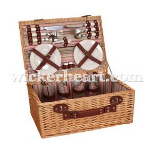 Wholesale Picnic Bags: Wholesale OEM Handmade Woven Wicker Willow Rattan Picnic Basket Bag PC0005