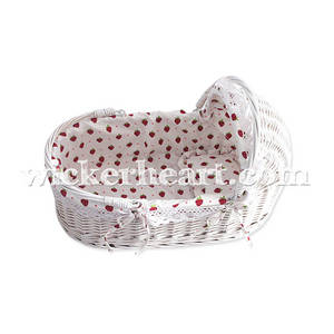 Wholesale Nursery Furniture & Decor: Wholesale OEM Handmade Wicker Moses Baby Basket Sleeping Bed Carrier Furniture FU0019