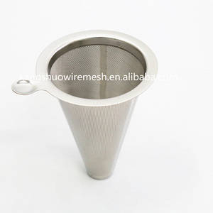 Wholesale stainless steel wire mesh: Reusable Stainless Steel Coffee Filter Ultra Fine Coffee Filter Hopper Metal Wire Mesh Coffee Filter