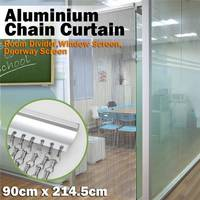 Aluminum Chain Link Metal Drapery As Decorative Shower Curtain