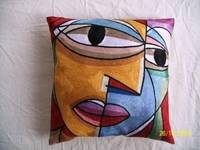 Chainstitch Moden Art Pillow Covers