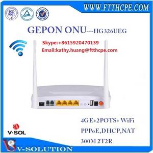 Wholesale sip phone voip phone: Similar HUAWEI HG8245 4GE+2POTS+WiFi HG326UEG FTTH GEPON ONU Router