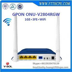 Wholesale voip hardware: New Products 4LAN Ports Wifi Gpon Onu Ont