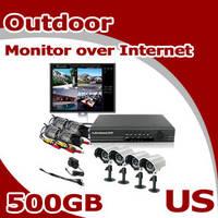 ZMODO 4CH CCTV Security Outdoor Camera DVR System 500GB