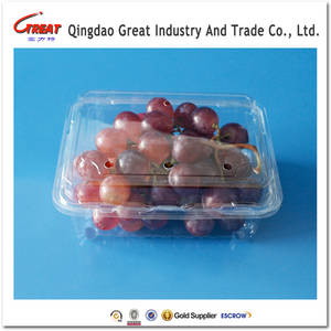 Wholesale plastic box/package: Clear Plastic Fruit Packaging Box Fruit Clamshell Fruit Container