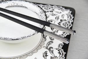 Wholesale Chopsticks: Christmas Gift Folding Titanium 304 Stainless Steel Chopsticks