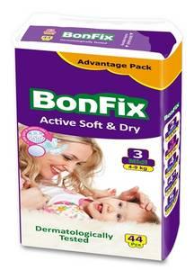 Wholesale pcs: Elastic Bonfix Baby Diapers Midi 44 PCS