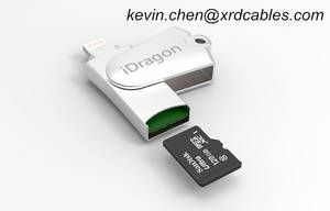 Wholesale card reader: OTG USB Memory Card Reader TF Card for IPhone 7 6 Plus