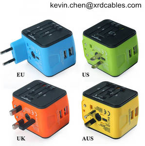 Wholesale Mobile Phone Chargers: Travel Plug Adapters All in 1 Travel Adapter Worldwide Universal Socket Converter Plug Adapter Head
