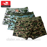 Custom Comfort Soft Cotton Camouflage Underwear Army Navy Air Force Green Men Boxers Underwear