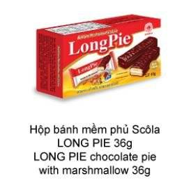 Wholesale g: Long-Pie Chocolate Pie with Marshmallow 36g, 72g, 180g, 216g. 252g, 288g, 324g, 450g, 540g