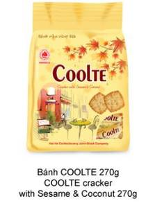 Wholesale cracker: Coolte Sesame and Coconut Cracker 270g