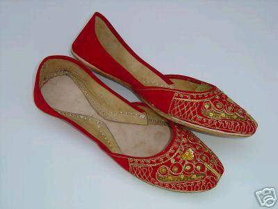 Sell Bridal Hancrafted Beaded ethnic ladies shoes