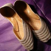 Indian Traditional Beaded Ladies Leather Shoes Khussa
