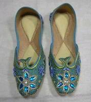 Indian Ethnic Leather Beaded Ladies Shoes