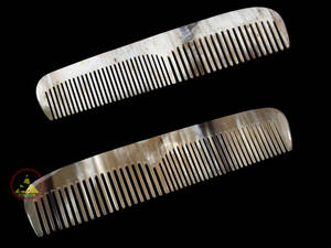 Wholesale x: Real Horn Comb - Double Style of Tooth - 15 X 3 Cm (5.90 X 1.18 Inch)