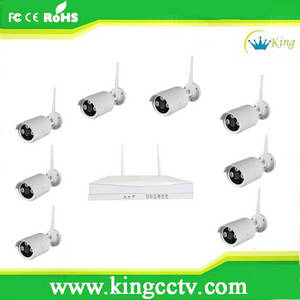 Wholesale cctv system: 720P IP Camera Wireless Wifi NVR Kits HD IR Bullet Outdoor CCTV Surveillance System
