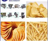 Automatic Fresh Potato Chips Making Machine , Potato Crisp Machine/ French Fries Production Line