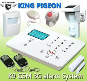 Wholesale alarm system: GSM 3G Touch Keypad Alarm System with Dial To Open Gate K9
