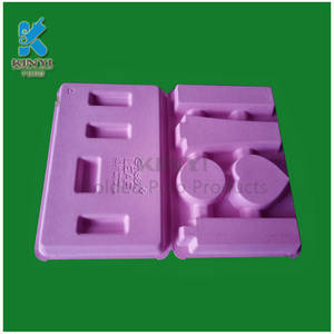 Wholesale makeup raw materials: Environmentally Friendly Recycled Fiber Pulp Molded Makeup Kits Packaging Trays