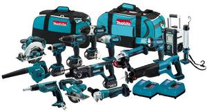 Wholesale mp3: Makita LXT1500 18V LXT 15 PC. Cordless Combo Kit Bag.