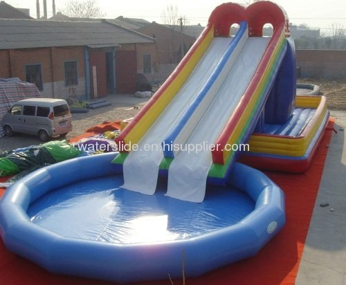 Inflatable Water Slide With Swimming Pool Id 7731837