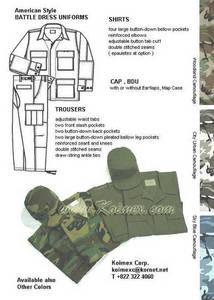 Wholesale pcs: Military BDU ( 3 pcs/set )